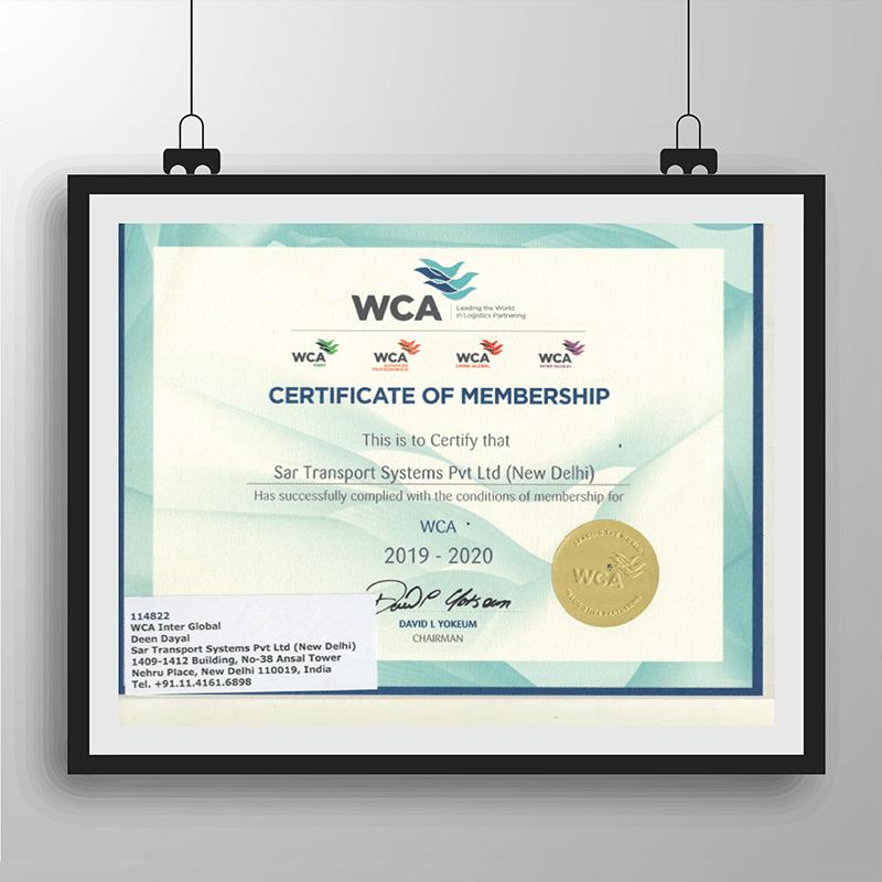 WCA_ Certificate of Membership_ NewDelhi