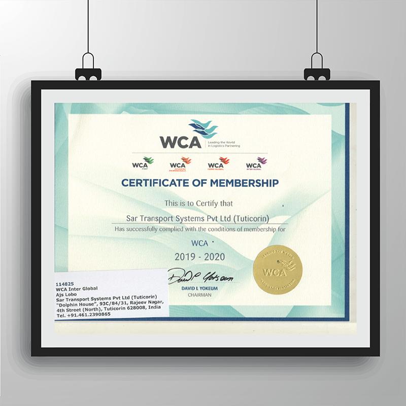 WCA_ Certificate of Membership_ Tuticorin